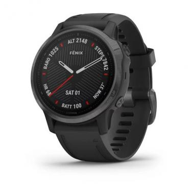 ЧАСЫ GARMIN FENIX 6S SAPPHIRE CARBON GRAY DLC WITH BLACK BAND 010-02159-25