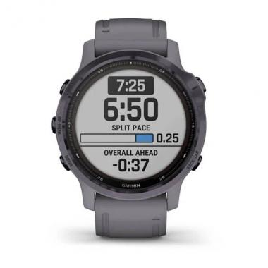 GARMIN FENIX 6S PRO SOLAR EDITION AMETHYST STEEL WITH SHALE GRAY BAND - 010-02409-15