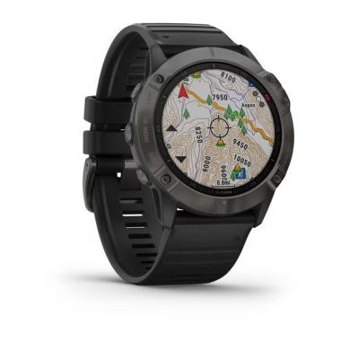 ЧАСЫ GARMIN FENIX 6X SAPPHIRE CARBON GRAY DLC WITH BLACK BAND 010-02157-11