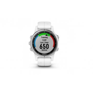 ЧАСЫ GARMIN FENIX 5S PLUS SAPPHIRE WHITE WITH WHITE BAND 010-01987-01