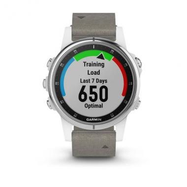 ЧАСЫ GARMIN FENIX 5S PLUS SAPPHIRE WHITE WITH GREY SUEDE BAND 010-01987-05