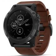 FENIX 5X PLUS SAPPHIRE SLATE GRAY WITH BROWN LEATHER BAND 010-01989-03