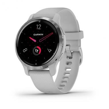 ЧАСЫ GARMIN VENU 2S SILVER BEZEL WITH MIST GRAY CASE AND SILICONE BAND 010-02429-12